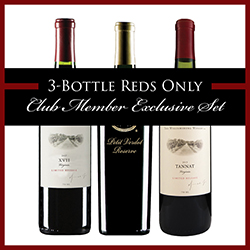 3-Bottle Reds Only Club Member Exclusive Set THUMBNAIL