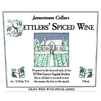 Jamestown Cellars Settlers' Spiced Wine