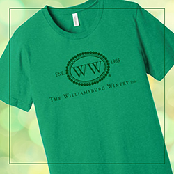 Green Williamsburg Winery T-Shirt
