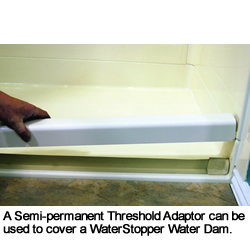 Semi Permanent Removable Threshold Adaptor Water Dam Tas