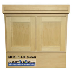"33"" ADA Compliant Wheelchair Vanity Cabinet, Standard Series LARGE"