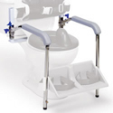 Armrest with bracket for Columbia Heavy Duty Toilet Support System
