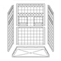 "54"" x 36"" Barrier-Free Accessible Shower Unit .75"" Beveled Entry & Shelves SWATCH"