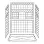 "60"" x 30"" Barrier-Free Accessible Shower Unit .75"" Beveled Entry & Shelves Mini-Thumbnail"