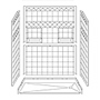 "60"" x 30"" Barrier-Free Accessible Shower Unit .75"" Beveled Entry & Shelves, End Drain Mini-Thumbnail"
