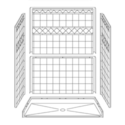 "60"" x 30"" Barrier-Free Accessible Shower with .75"" Beveled Entry LARGE"