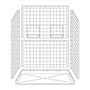 "60"" x 32"" Barrier-Free Accessible Shower Unit .75"" Beveled Entry & Shelves Mini-Thumbnail"