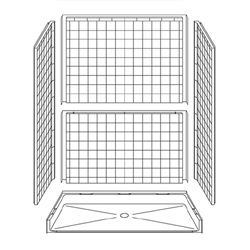"60"" x 34"" Barrier-Free Accessible Shower Unit .75"" Beveled Entry LARGE"