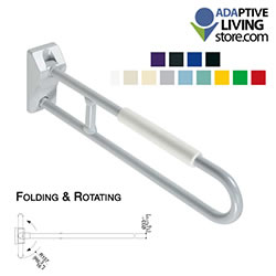 Folding and Rotating Grab Bar with Armrest Maxima LARGE