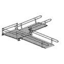 Aluminum Modular Wheelchair Ramp to Turn Platform to Ramp Kit_THUMBNAIL