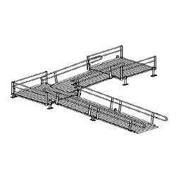 Aluminum Modular Straight Platform to Ramp to Turn Platform to Ramp Kit