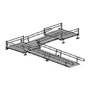 Aluminum Modular Straight Platform to Ramp to Turn Platform to Ramp Kit_THUMBNAIL