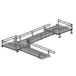 Aluminum Modular Turn Platform to Ramp to Turn Platform to Ramp Kit