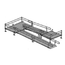Aluminum Modular Turn Platform to Ramp to Turnback Platform to Ramp Kit