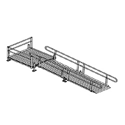 Aluminum Modular Turn Platform with Ramp Kit_MAIN
