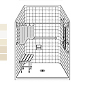 "51"" x 51"" Barrier Free LCS5151B5B fiberglass shower_THUMBNAIL"