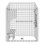"60"" x 30"" One Piece Barrier-Free Accessible Shower Unit .75"" Beveled Entry SWATCH"