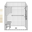"60"" x 30"" Barrier Free LCS6030B75B fiberglass shower THUMBNAIL"