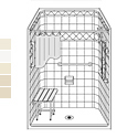 "48"" x 36"" Barrier Free Diamond LDS4836B5T fiberglass shower THUMBNAIL"