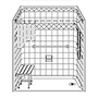 "60"" x 32"" One Piece Barrier-Free Accessible Shower 1"" Beveled Entry & End Drain SWATCH"