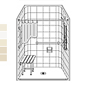 "48"" x 38"" Barrier Free LES4838B5B fiberglass shower THUMBNAIL"