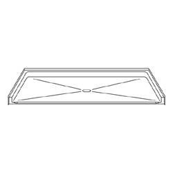 "Best Bath Systems 60"" x 30"" Barrier Free Beveled Shower Pan with Center Drain"