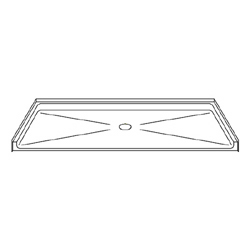 "Best Bath Systems 60"" x 32"" Barrier Free Beveled Shower Pan with Center Drain"