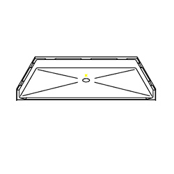 P6042B1B Shower Pan Beveled Threshold 60 x 42 Barrier-Free