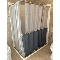 Color Weighted Shower Curtain Grommets