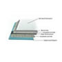 "60"" x 48"" Barrier-Free Accessible Shower Unit 1"" Beveled Entry, Subway Tile SWATCH"