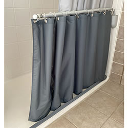 Caregiver Height Weighted Shower Curtain, Premium Colors LARGE