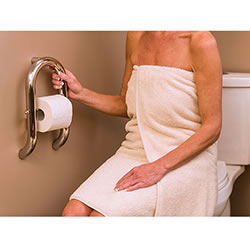 Invisia Wall Toilet Roll Holder Grab Bar LARGE