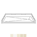 "Best Bath Systems 54"" x 30"" Barrier Free Beveled Shower Pan with End Drain"