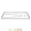 "Best Bath Systems P6030B17T 60"" x 30"" Barrier Free Shower Pan with End Drain THUMBNAIL"