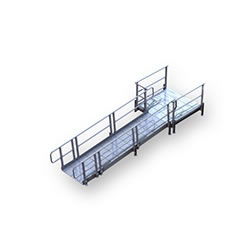 Aluminum Modular XP Ramp with Platform Kit 2 LARGE