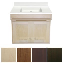 "30"" ADA Handicap Vanity Cabinet Package Contractor Series, White Sink Top_MAIN"