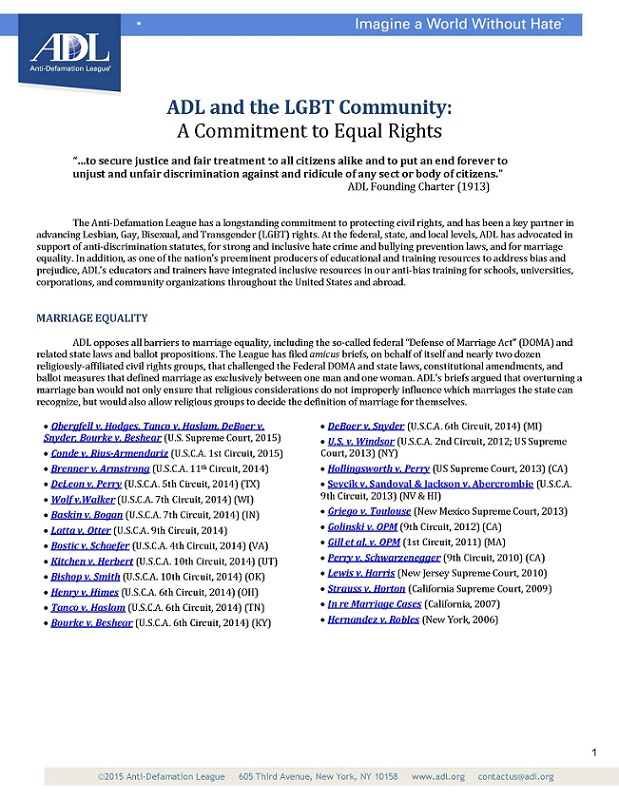 ADL and LGBT Community THUMBNAIL