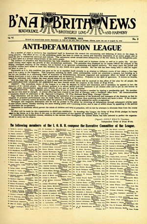 ADL Charter Replica Poster