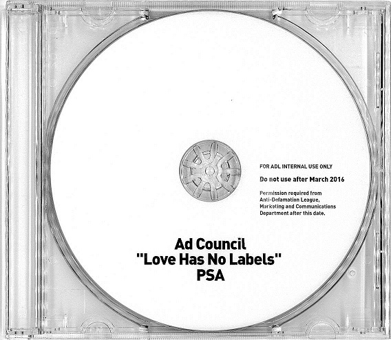 "Ad Council's ""Love Has No Labels"" PSA DVD"
