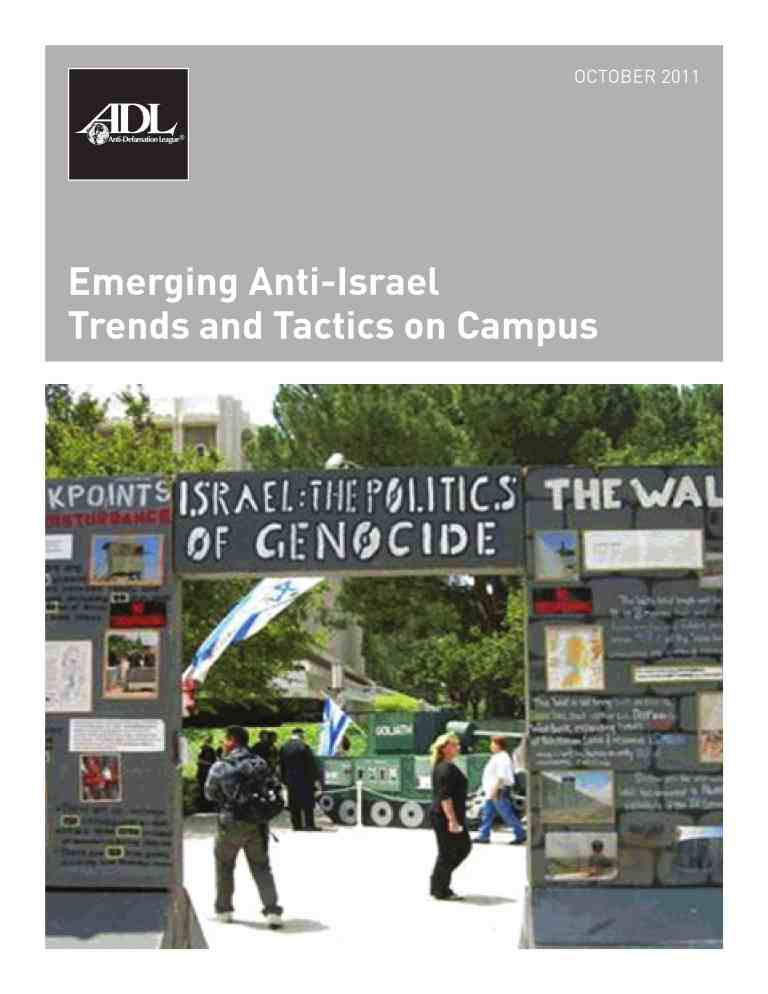 Emerging Anti-Israel Trends and Tactics on Campus LARGE