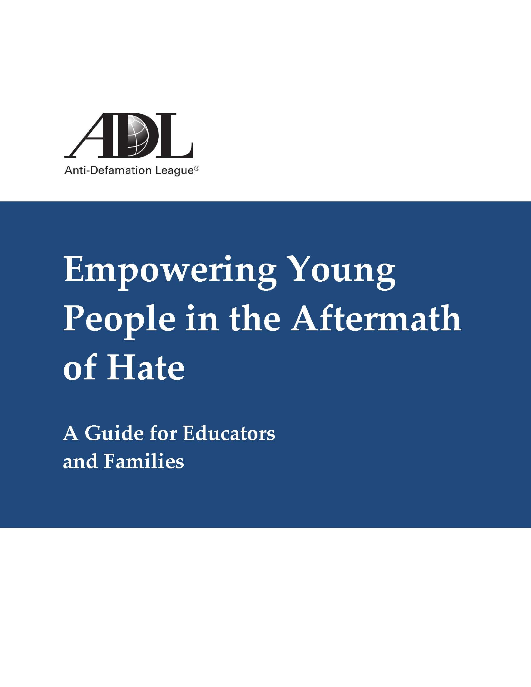 Empowering Young People in the Aftermath of Hate