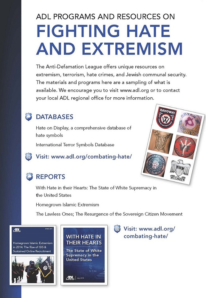 ADL Programs and Resources on Fighting Hate and Extremism