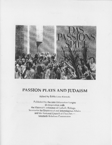 Passion Plays and Judaism