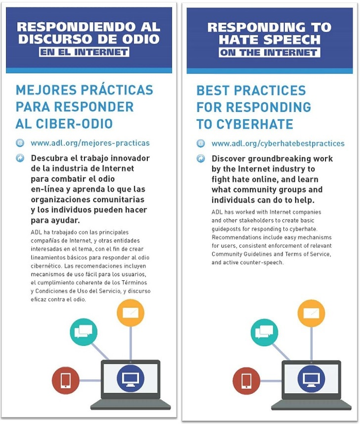 Responding to Hate on the Internet - Brochure  (English-Spanish) THUMBNAIL