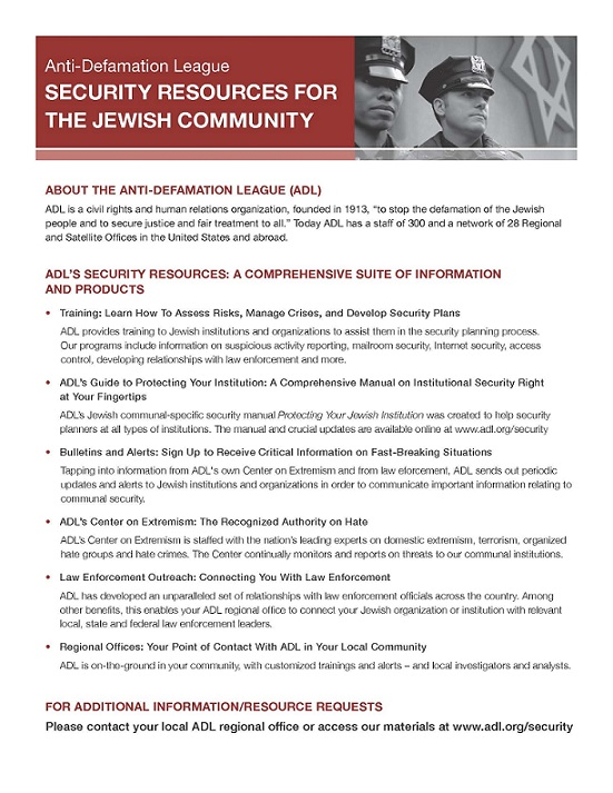 Security Resources for The Jewish Community