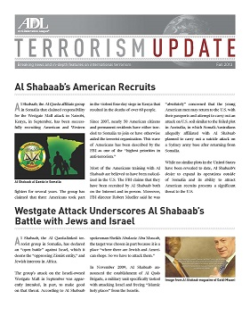 Terrorism Update (Fall 2013) MAIN