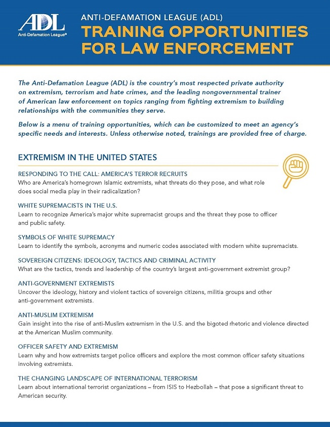 Training Opportunities for Law Enforcement THUMBNAIL