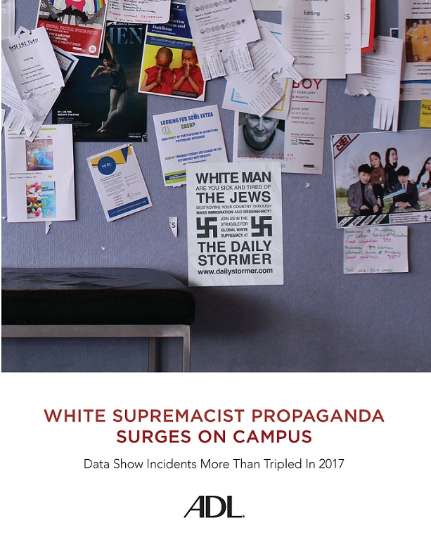 White Supremacist Propaganda Surges on Campus Report THUMBNAIL