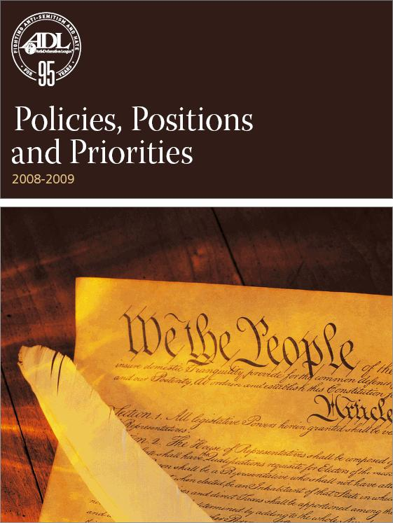 Policies, Positions and Priorities