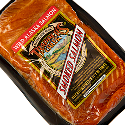 Kippered Smoked King Salmon (Original or Peppered) 1lb LARGE